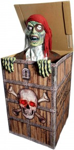 Animatronic Prop Animated Pirate in a Chest for Party Decoration or Prop