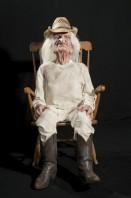 Grandpa Crotchety Rocking Old Man Scary Animated Prop