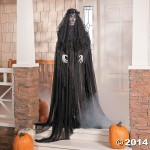 Haunting Lady in Black Ghost Bride Prop