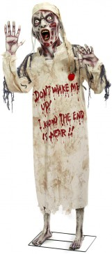 Sleepy Zombie Standing Prop for Party Decoration Yard Decor