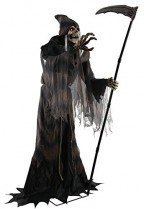 Lunging Reaper Animated Halloween Prop Poseable 6 Feet Halloween Prop