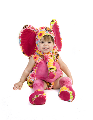 Adorable Colorful Elephant Infant Costume