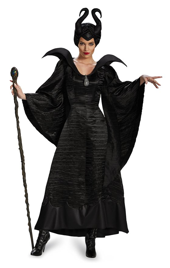 Women's Maleficent Costume with Head Piece