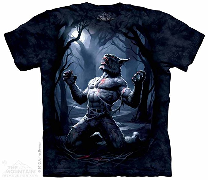 The Mountain Werewolf Transformation Adult T-Shirt